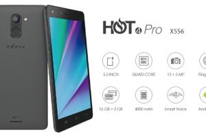 أنفنيكس هوت 4 برو :  مميزاته وعيوبه وسعره Infinix Hot 4 Pro الهاتف الذكي