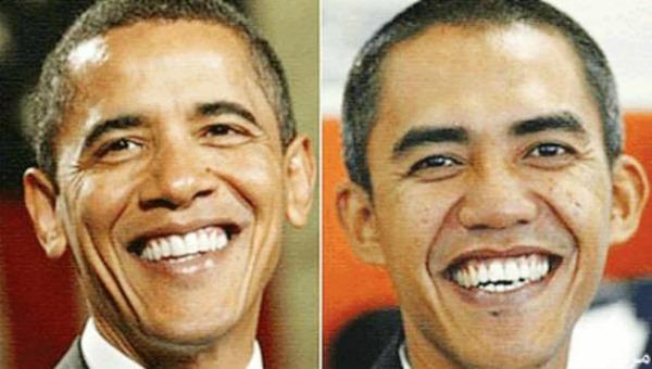 أوباما وشبيهه
