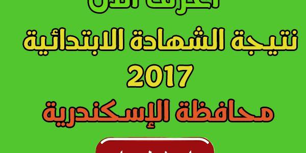 نتيجة الشهادة الإبتدائية 2017 وإعلان أسماء الأوائل لمحافظة الاسكندرية