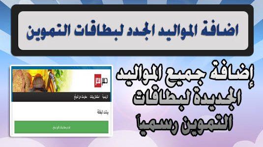 إضافة المواليد الجدد في عام 2018 عبر الموقع الخاص بدعم مصر subsidy.egypt.gov.eg- وطريقة تحديث بطاقة التموين في موقع وزارة التموين