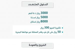 رسوم التأشيرات الجديدة القادمين والمقيمين بالسعودية 1440هـ