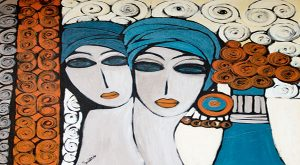 الفنانة التشكيلية الجزائرية باية محي الدين