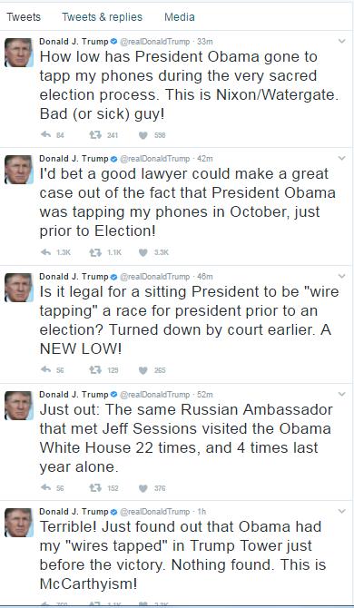 تغريدات ترامب على تويتر