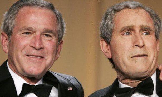 جورج بوش و شبيهه