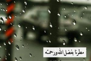 دعاء المطر، دعاء الرسول عند نزول المطر