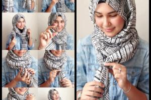بالصور حجاب 2017 : اجمل لفات الحجاب الجذابة والمميزة لمختلف اشكال الوجه