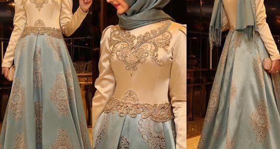 فستان سهرة للمحجبات فساتين طويلة محتشمة بأجمل الموديلات