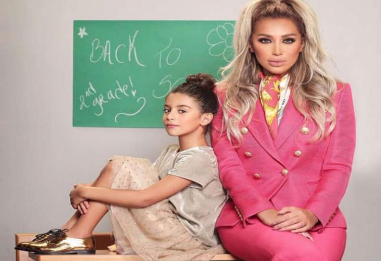 مايا دياب مع أبنتها