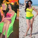 شاهد صور فنانة الاغراء اللبنانية لاميتا فرنجية وهى ترتدى فستان مطعم بالماس فى مهرجان كان 2015 وتنافس نجمات العالم