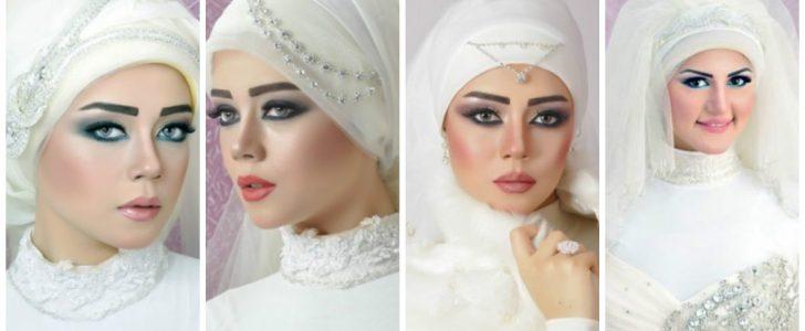 تشكيلة رائعة من لفة الطرحة للعرائس أحدث لفات الطرح للعروسة المحجبة