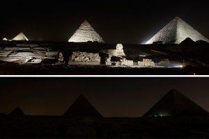 """مصر تغلق أنوار المناطق السياحية اليوم مشاركة في مبادرة """"ساعة الأرض"""""""