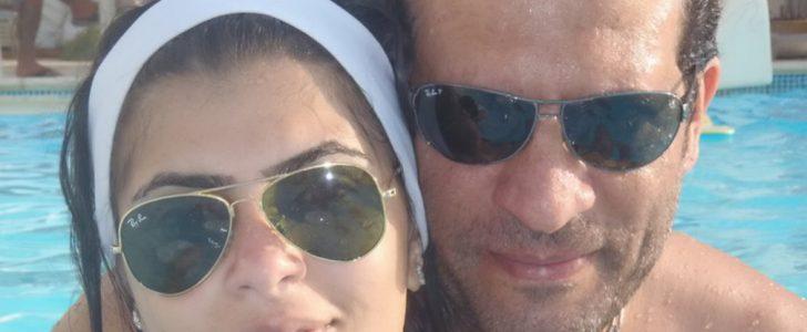 لاول مره صوره الفنان ماجد مع زوجته وابنه الصغير على شاطئ البحر
