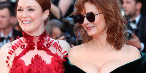 حضور جوليان مور وسوزان سارندون لمهرجان كان بفستان لفت انتباة الحضور