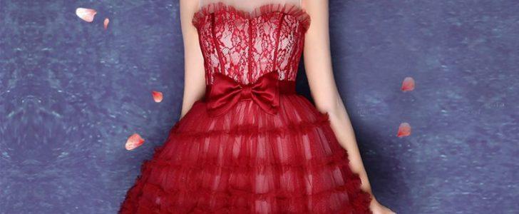فساتين سهرة قصيرة موديلات متنوعة من أرقى أزياء الفساتين السواريه القصيرة
