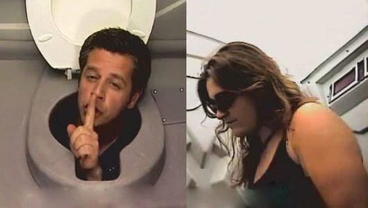 لن تصدق ظهور رأس بني ادم من فتحة الحمام فى برنامج الكاميرا الخفية الجديد لن تتمالك نفسك من الضحك