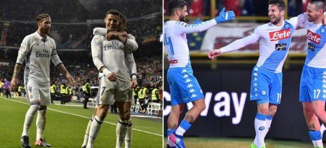 نابولي يهدد ريال مدريد في دوري ابطال اوروبا