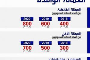 قيمة الرسوم الجديد للوافدين والمرافقين داخل المملكة العربية السعودية لعام 2018 و2019