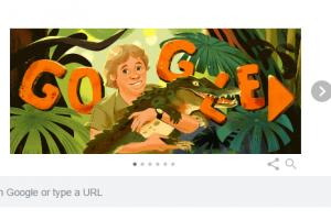 احتفال جوجل اليوم بذكرى ميلاد صائد التماسيح الاسترالى ستيف اروين