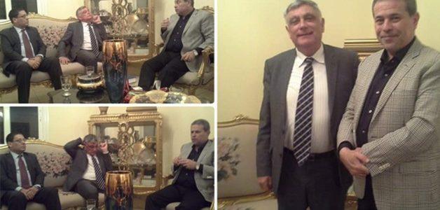 عكاشة يثير الجدل بعد استقباله السفير الإسرائيلي بمنزله