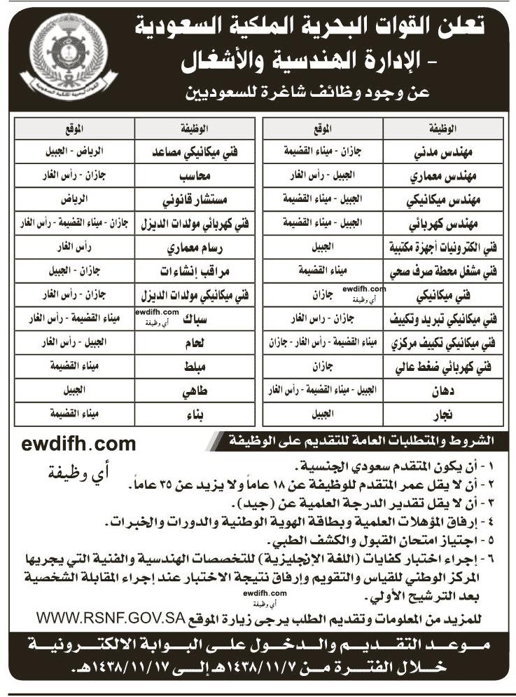 القوات البحرية السعودية 1438