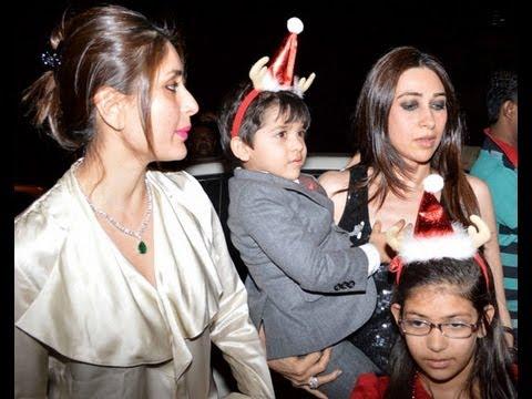 كارينا كابور مع ابنائها وشقيقتها