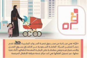 خطوات تسجيل الأطفال فى برنامج قرة الالكترونى لمساعدة المرأة العاملة بالقطاع الخاص السعودى
