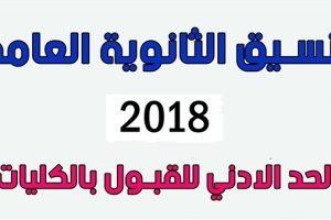 تنسيق الجامعات المصرية للمرحلة الثانية لطلاب الثانوية العامة 2018
