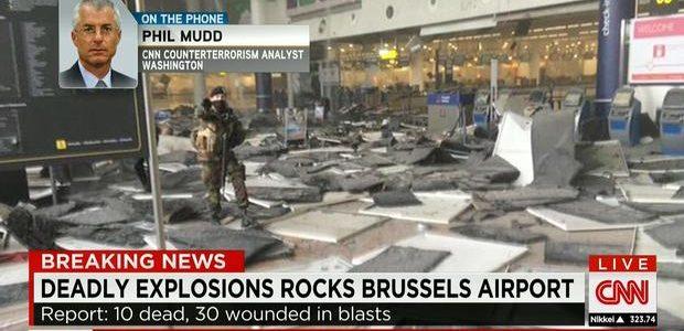 شاهد لحظة تدافع وهروب الركاب عقب انفجارات مطار بروكسل في بلجيكا