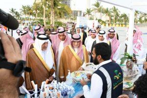 خالد الفيصل يقوم بافتتاح الحديقة الثقافية بكورنيش جدة المملكة العربية السعودية