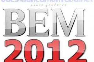 نتائج شهادة التعليم المتوسط 2012 الديوان الوطنى
