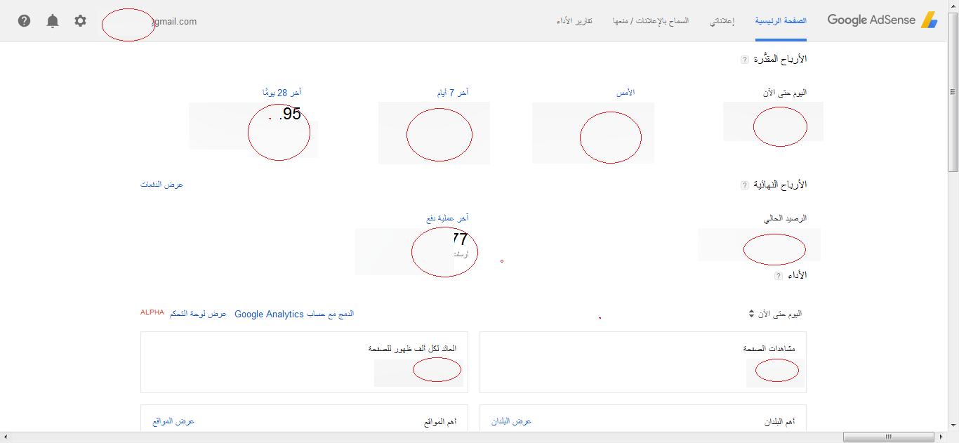 صوره لحساب جوجل ادسنس
