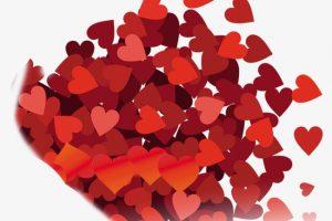 باقة من اجمل القلوب الحمراء المزخرفة للتبادل بين الأحبة فى عيد الحب 2018