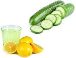 ماسك الخيار وعصير الليمون
