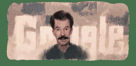 احتفال جوجل اليوم بالفنان التشكيلى محمد ايساخم الجزائرى
