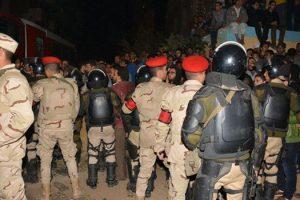 أنهيار عقار بالإسماعيلية وقوات الجيش تشارك فى عملية الإنقاذ