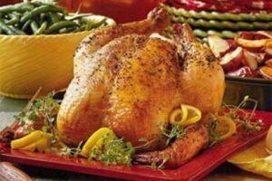 طريقة عمل الدجاج المحشية بالارز بالخلطة وصوص دبس الرمان في الفرن