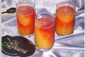 عصير الخوخ بالبرتقال في شهر رمضان