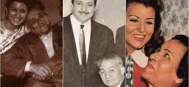 صور  الآباء مع أبنائهم الفنانين أيام الزمن الجميل