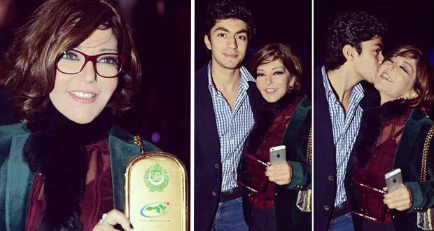 سميرة سعيد مع أبنها