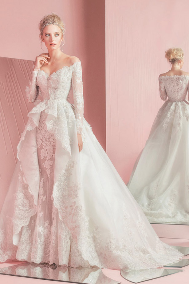 zuhair-murad-spring-summer-2016-bridal-off-the-shoulder-long-sleeves-sheath-wedding-dress-with-overskirt-ball-gown-train-patsy